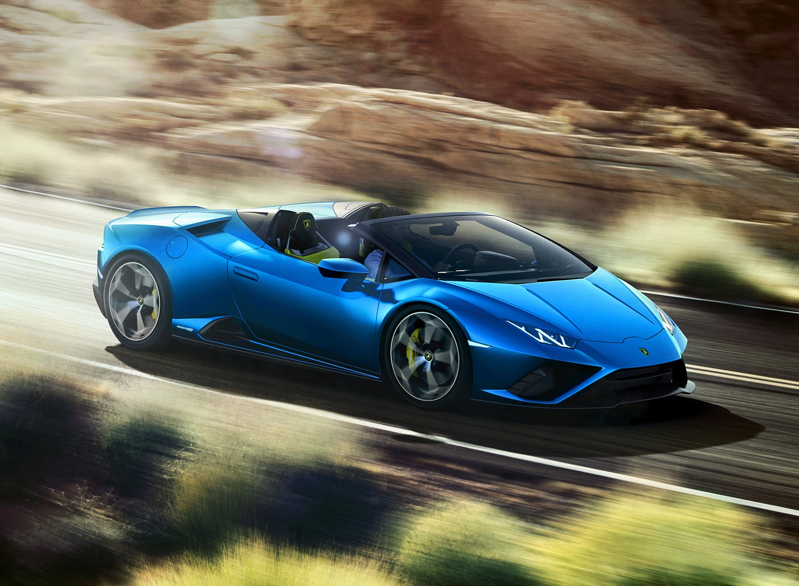2021 Lamborghini Huracán EVO RWD Spyder Front Three-Quarter Wallpapers (1)