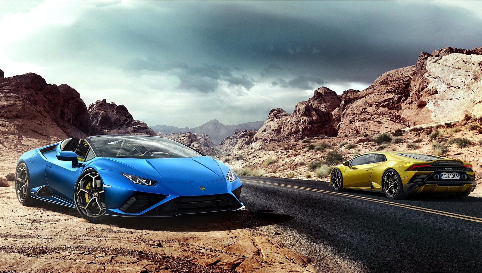 2021 Lamborghini Huracán EVO RWD Spyder Front Three-Quarter Wallpapers (3)