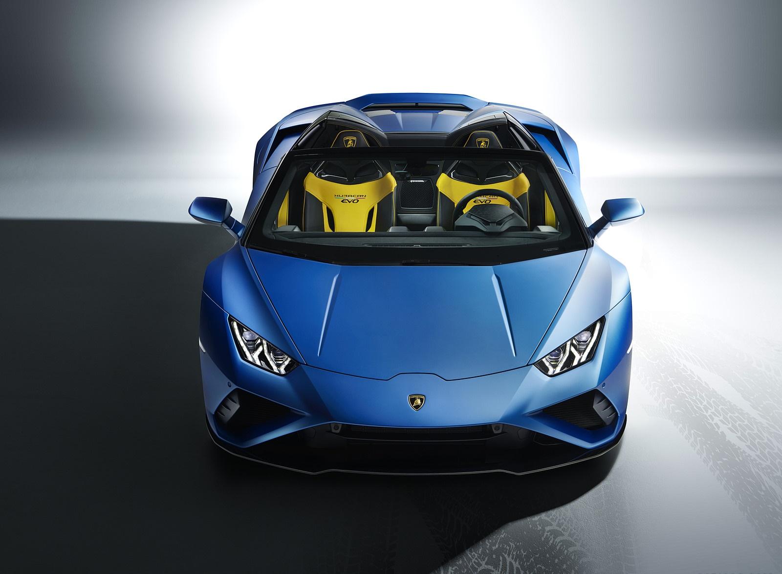 2021 Lamborghini Huracán EVO RWD Spyder Front Wallpapers (6)
