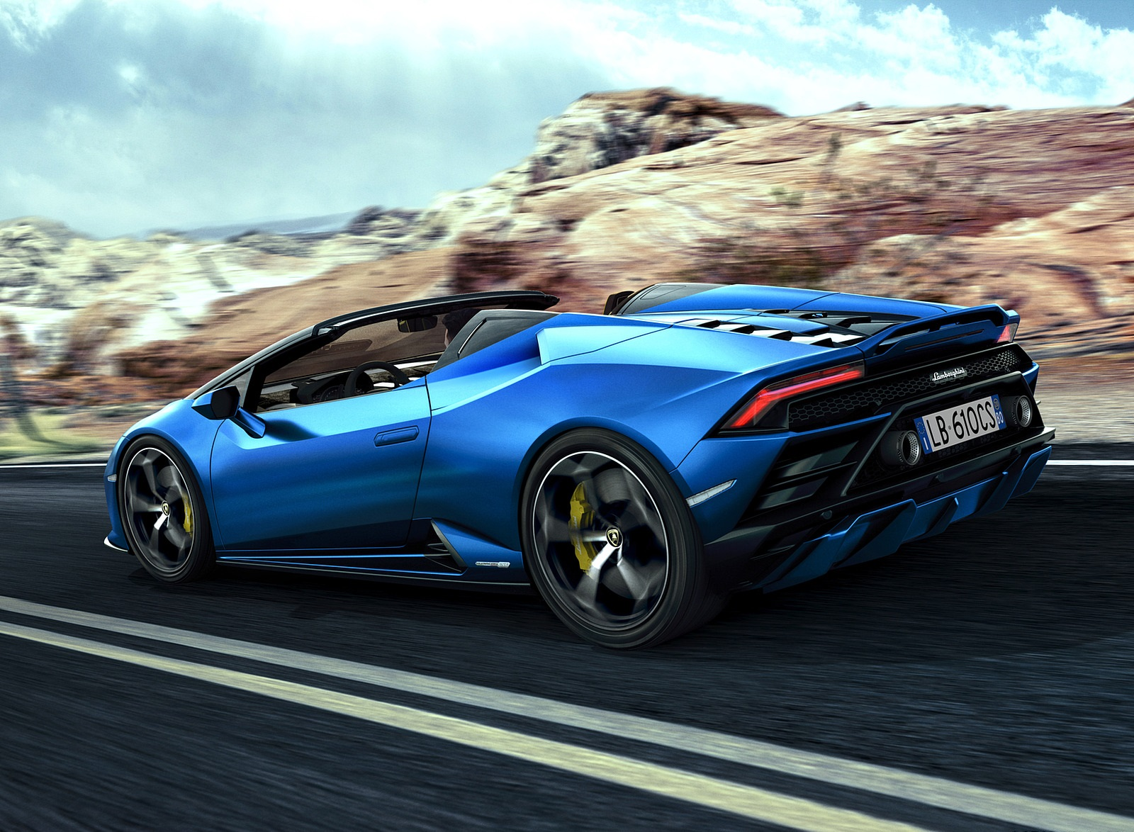 2021 Lamborghini Huracán EVO RWD Spyder Rear Three-Quarter Wallpapers (4)