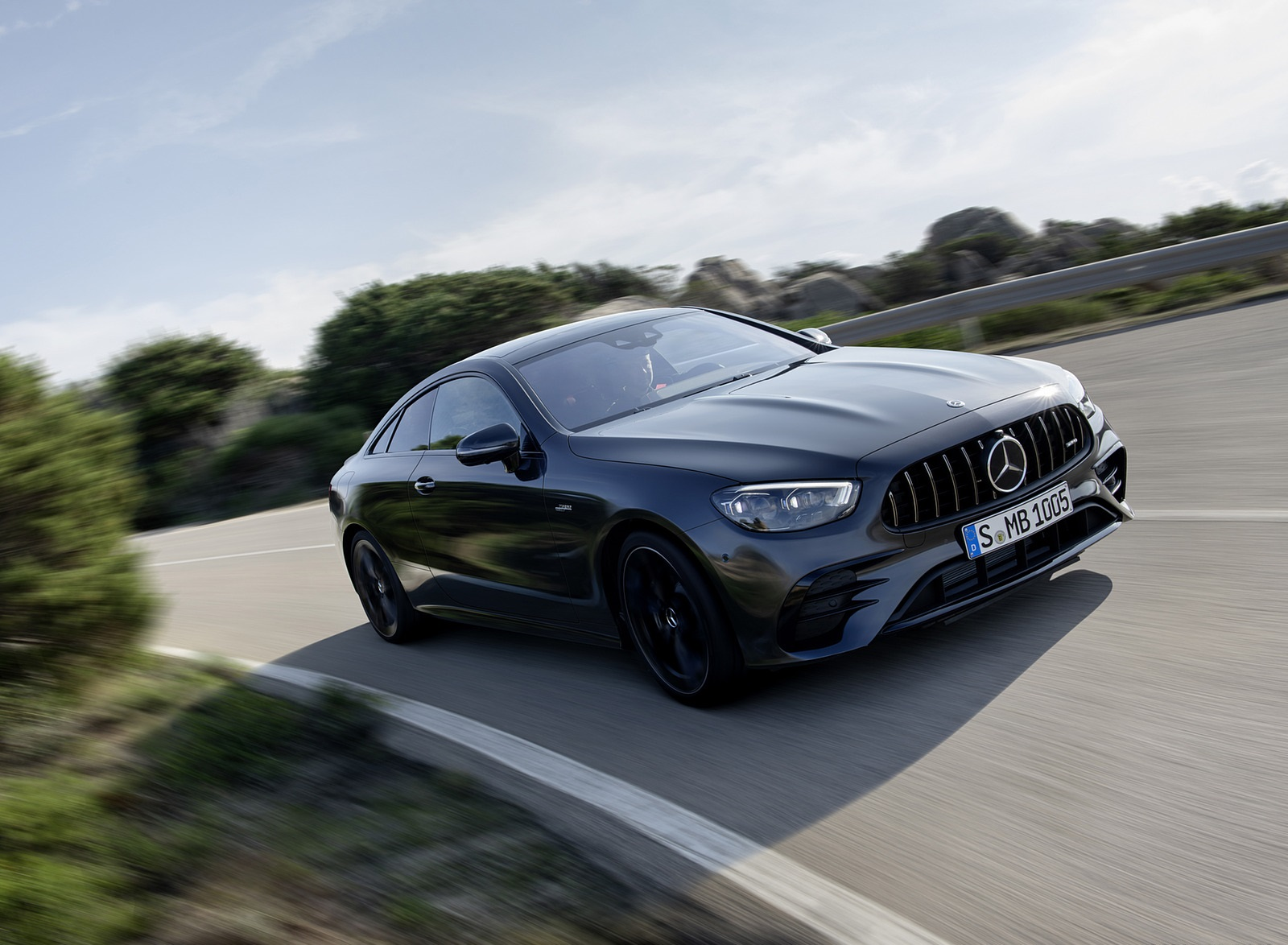 2021 Mercedes-AMG E 53 Coupe (Color: Graphite Grey Metallic) Front Three-Quarter Wallpapers (2)