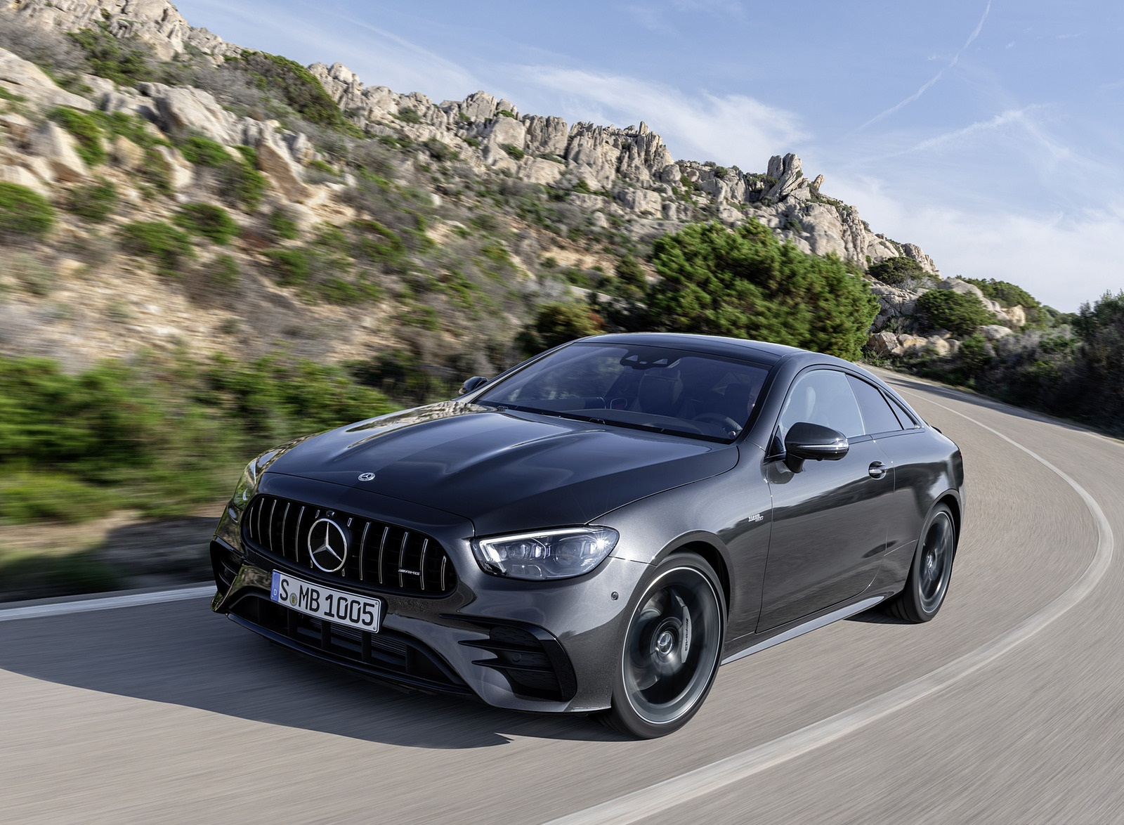 2021 Mercedes-AMG E 53 Coupe (Color: Graphite Grey Metallic) Front Three-Quarter Wallpapers (3)