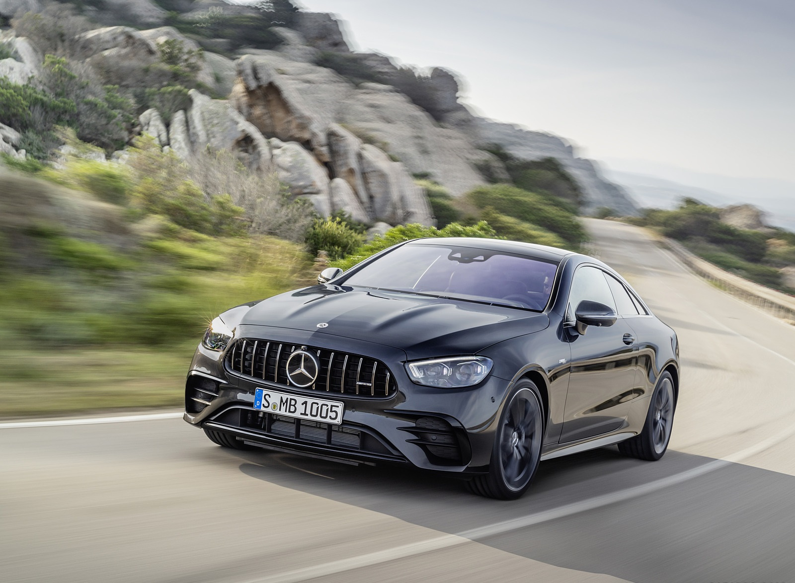 2021 Mercedes-AMG E 53 Coupe (Color: Graphite Grey Metallic) Front Three-Quarter Wallpapers (1)