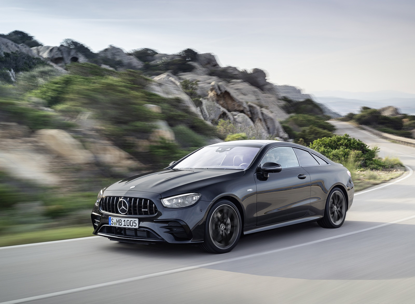2021 Mercedes-AMG E 53 Coupe (Color: Graphite Grey Metallic) Front Three-Quarter Wallpapers (4)