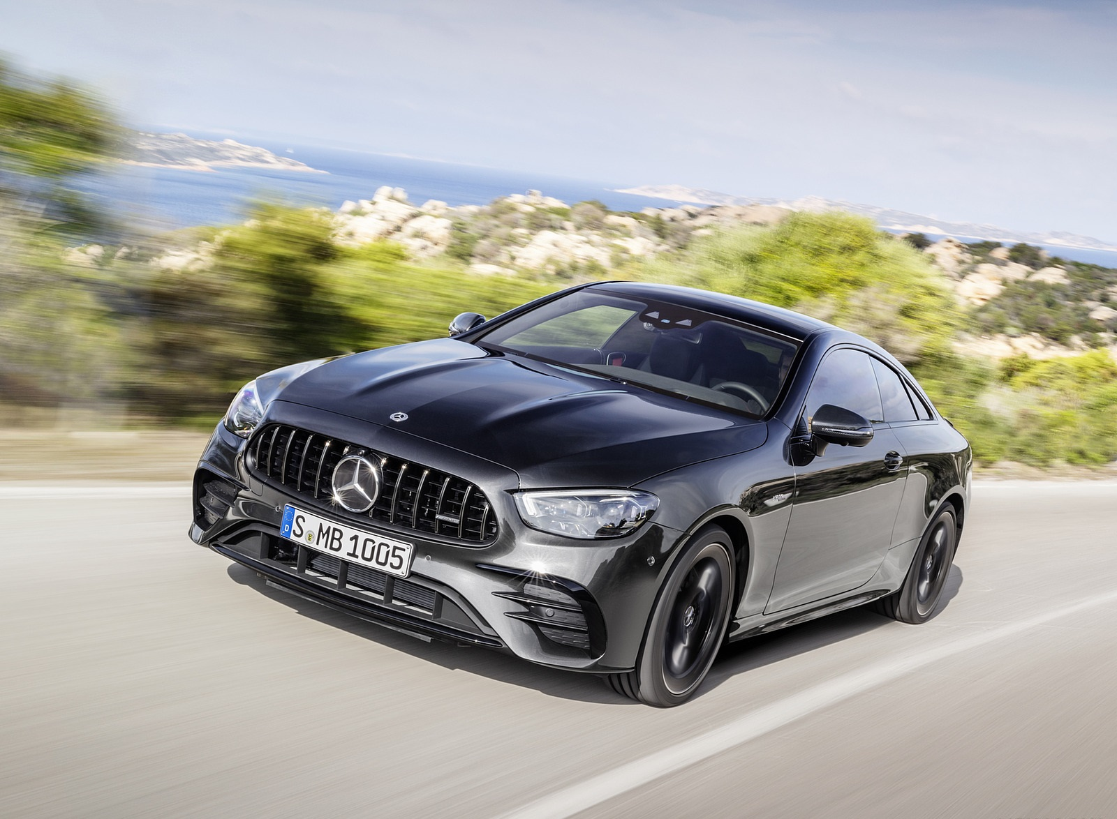 2021 Mercedes-AMG E 53 Coupe (Color: Graphite Grey Metallic) Front Three-Quarter Wallpapers (5)