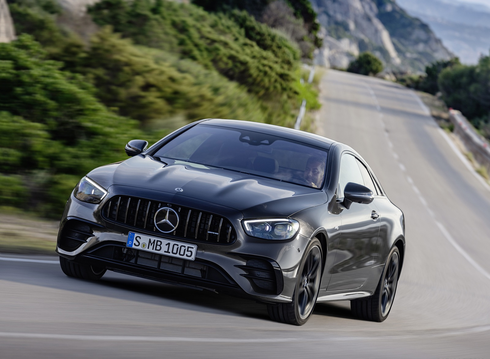 2021 Mercedes-AMG E 53 Coupe (Color: Graphite Grey Metallic) Front Wallpapers (7)