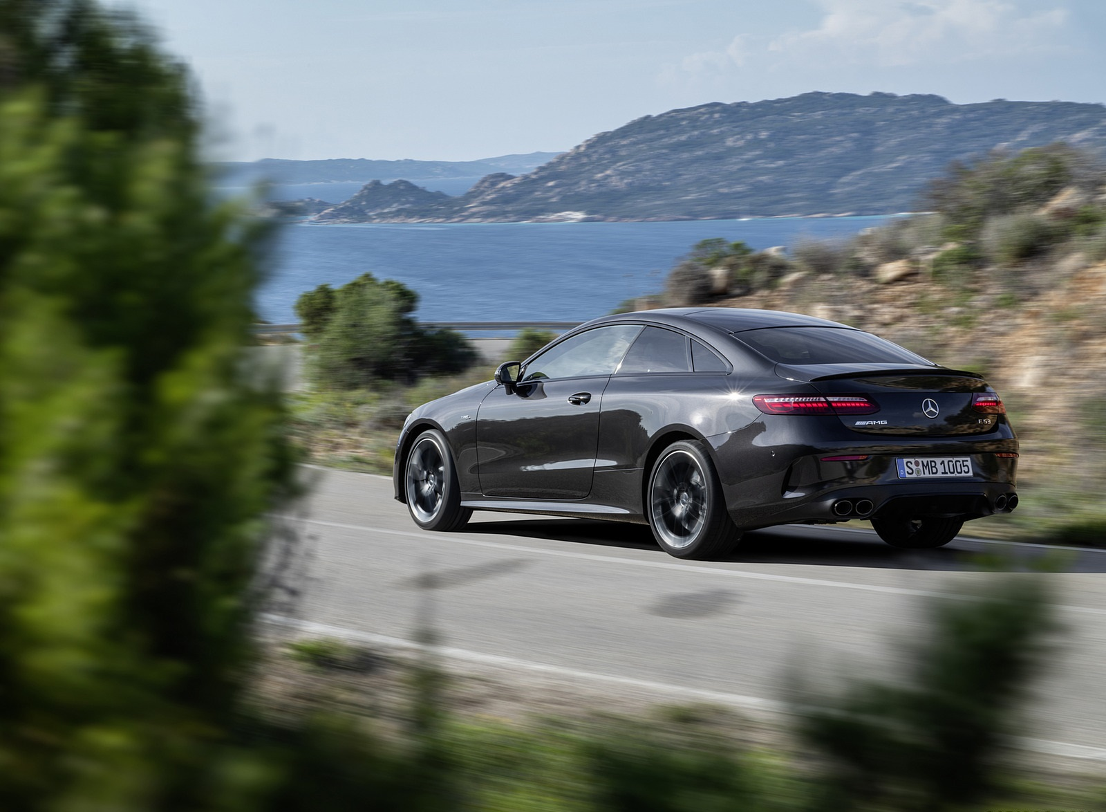 2021 Mercedes-AMG E 53 Coupe (Color: Graphite Grey Metallic) Rear Three-Quarter Wallpapers (8)