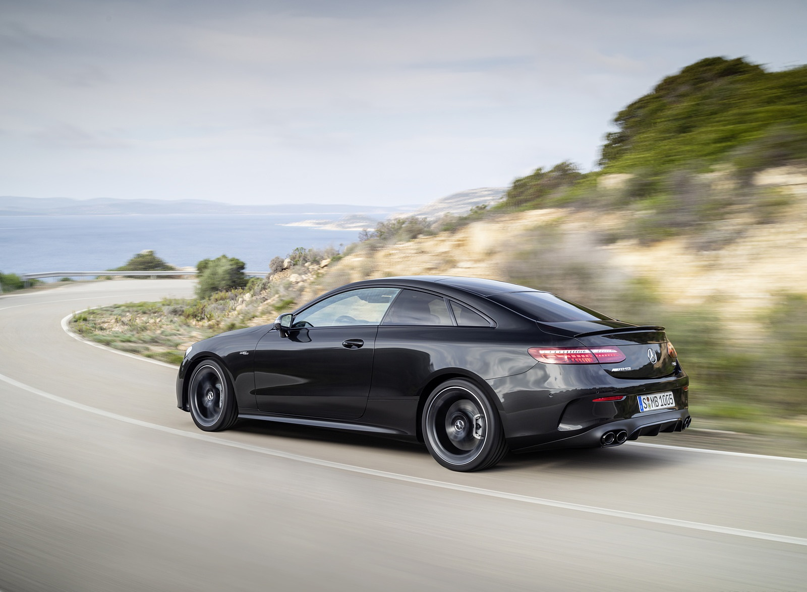 2021 Mercedes-AMG E 53 Coupe (Color: Graphite Grey Metallic) Rear Three-Quarter Wallpapers (9)
