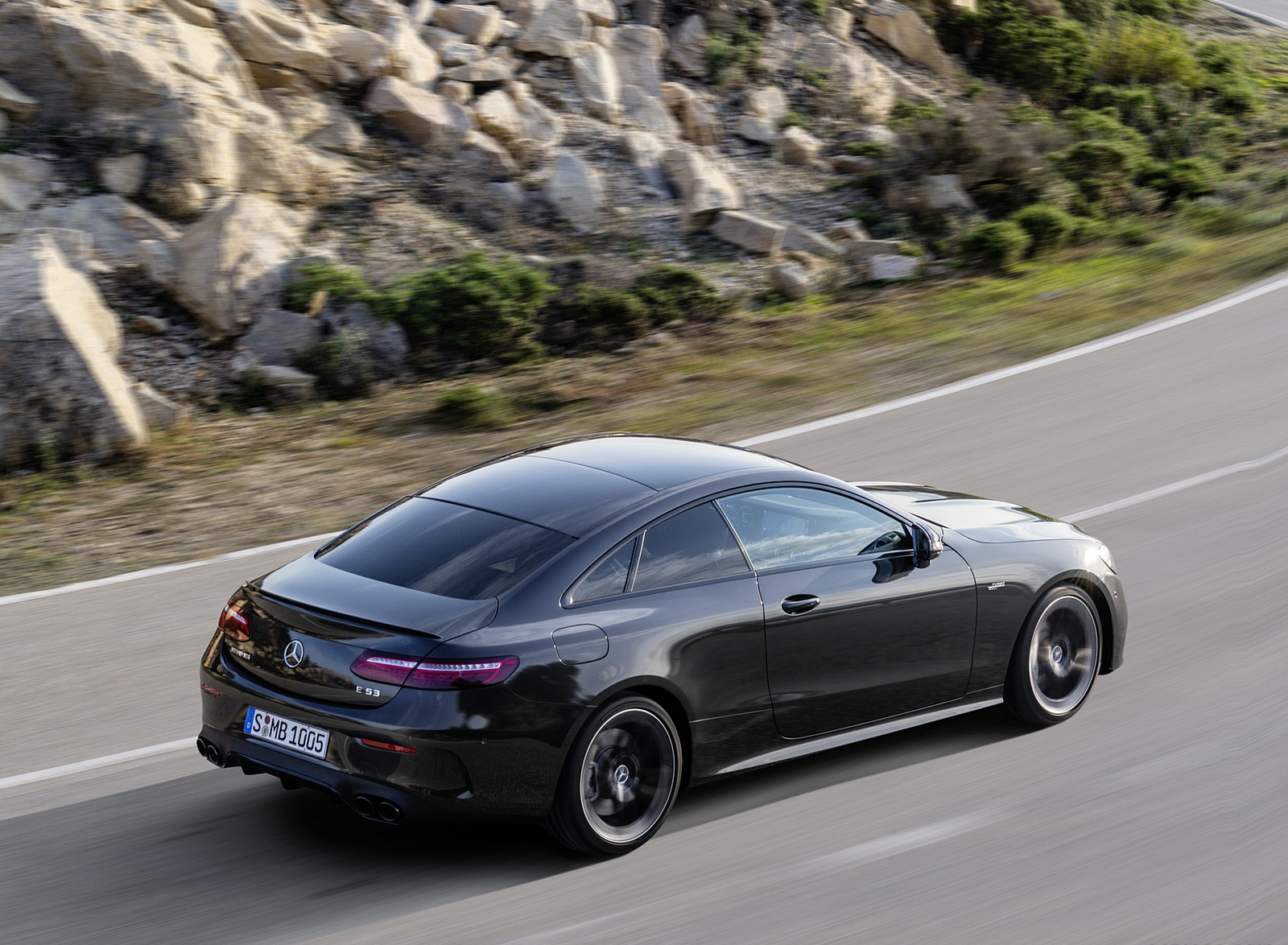 2021 Mercedes-AMG E 53 Coupe (Color: Graphite Grey Metallic) Rear Three-Quarter Wallpapers (10)