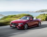 2021 Mercedes-Benz E 450 4MATIC Cabriolet AMG Line (Color: Designo Hyacinth Red Metallic) Front Three-Quarter Wallpapers 150x120 (29)