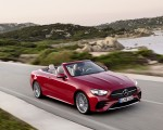 2021 Mercedes-Benz E 450 4MATIC Cabriolet AMG Line (Color: Designo Hyacinth Red Metallic) Front Three-Quarter Wallpapers 150x120 (31)