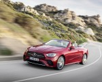 2021 Mercedes-Benz E 450 4MATIC Cabriolet AMG Line (Color: Designo Hyacinth Red Metallic) Front Three-Quarter Wallpapers 150x120 (40)
