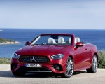 2021 Mercedes-Benz E 450 4MATIC Cabriolet AMG Line (Color: Designo Hyacinth Red Metallic) Front Wallpapers 150x120 (47)