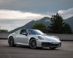 2021 Porsche 911 Targa 4 (Color: Dolomite Silver Metallic) Front Three-Quarter Wallpapers 150x120 (1)