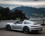 2021 Porsche 911 Targa 4 (Color: Dolomite Silver Metallic) Rear Three-Quarter Wallpapers 150x120 (2)