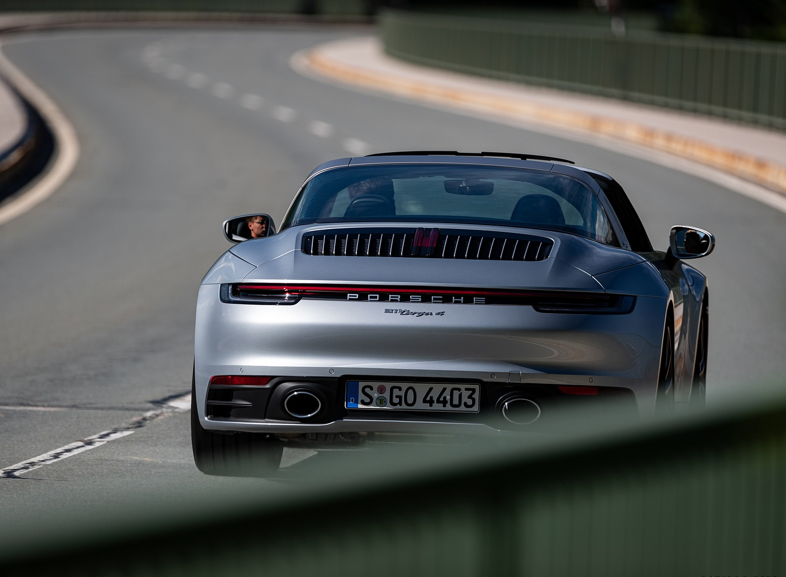 2021 Porsche 911 Targa 4 (Color: Dolomite Silver Metallic) Rear Wallpapers (7)