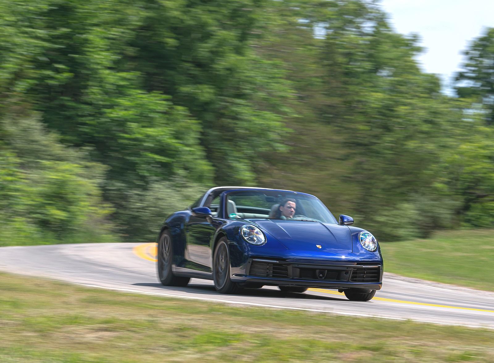 2021 Porsche 911 Targa 4 (Color: Gentian Blue) Front Three-Quarter Wallpapers (2)