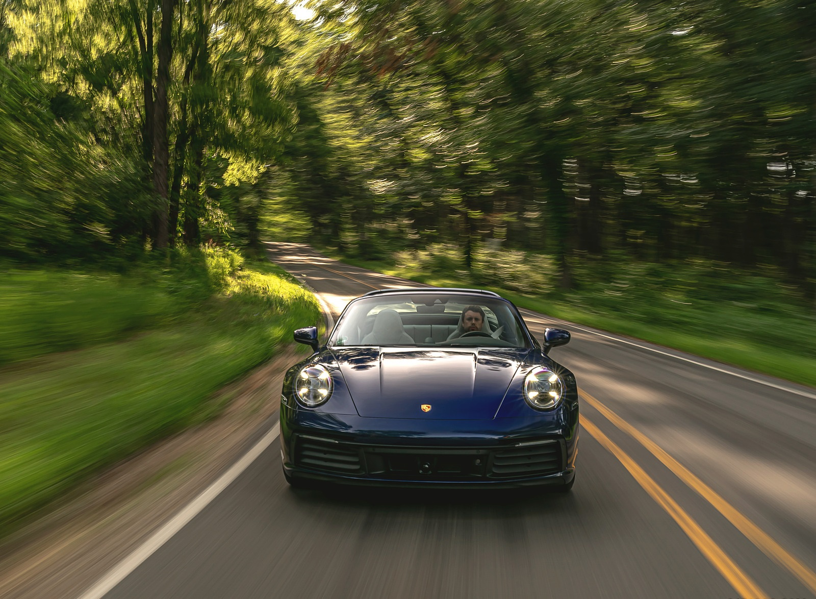 2021 Porsche 911 Targa 4 (Color: Gentian Blue) Front Wallpapers (1)
