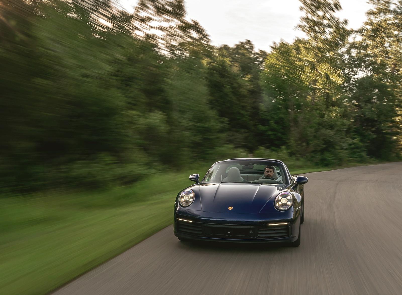 2021 Porsche 911 Targa 4 (Color: Gentian Blue) Front Wallpapers (3)