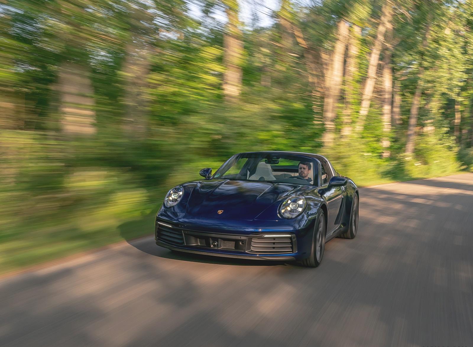 2021 Porsche 911 Targa 4 (Color: Gentian Blue) Front Wallpapers (4)