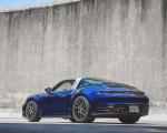 2021 Porsche 911 Targa 4 (Color: Gentian Blue) Rear Three-Quarter Wallpapers 150x120 (29)