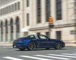 2021 Porsche 911 Targa 4 (Color: Gentian Blue) Rear Three-Quarter Wallpapers 150x120 (23)