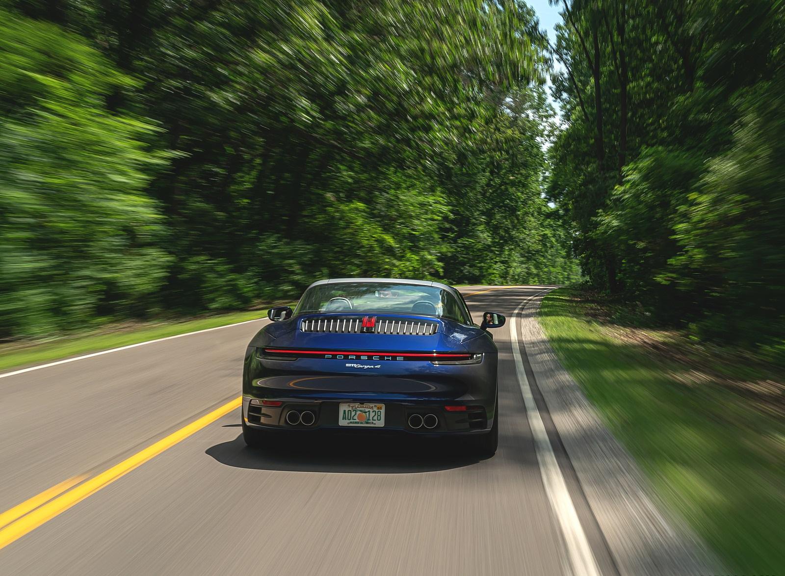 2021 Porsche 911 Targa 4 (Color: Gentian Blue) Rear Wallpapers  (5)