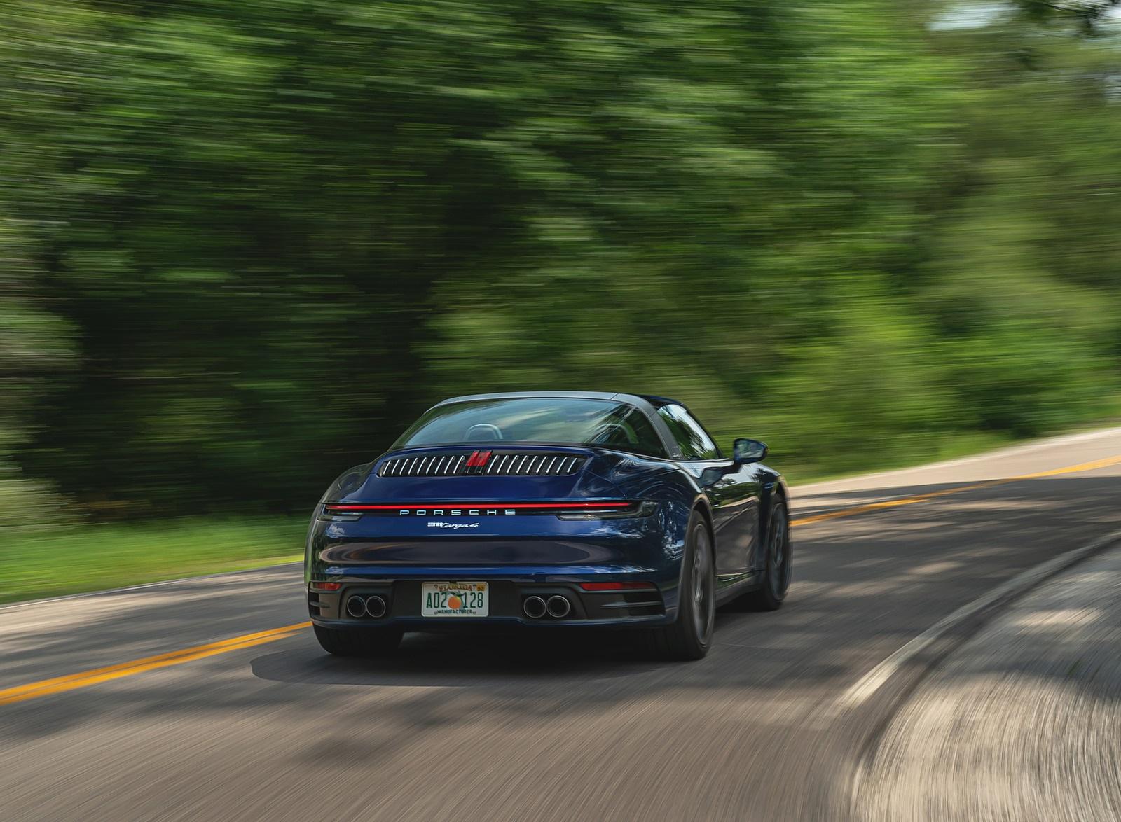2021 Porsche 911 Targa 4 (Color: Gentian Blue) Rear Wallpapers (6)