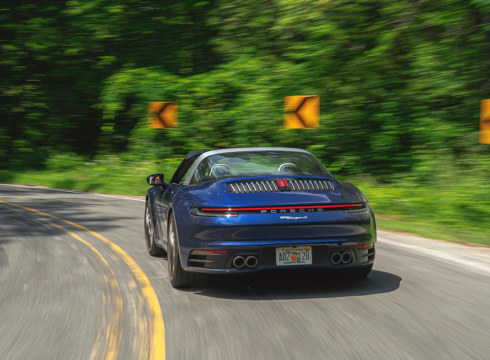 2021 Porsche 911 Targa 4 (Color: Gentian Blue) Rear Wallpapers (8)