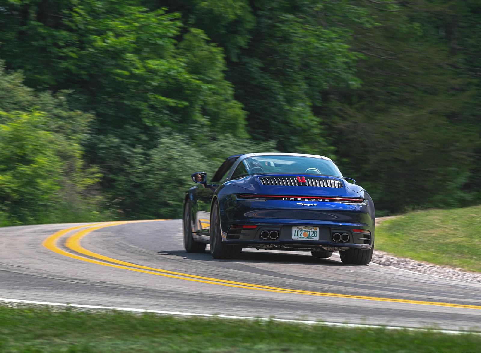 2021 Porsche 911 Targa 4 (Color: Gentian Blue) Rear Wallpapers (9)