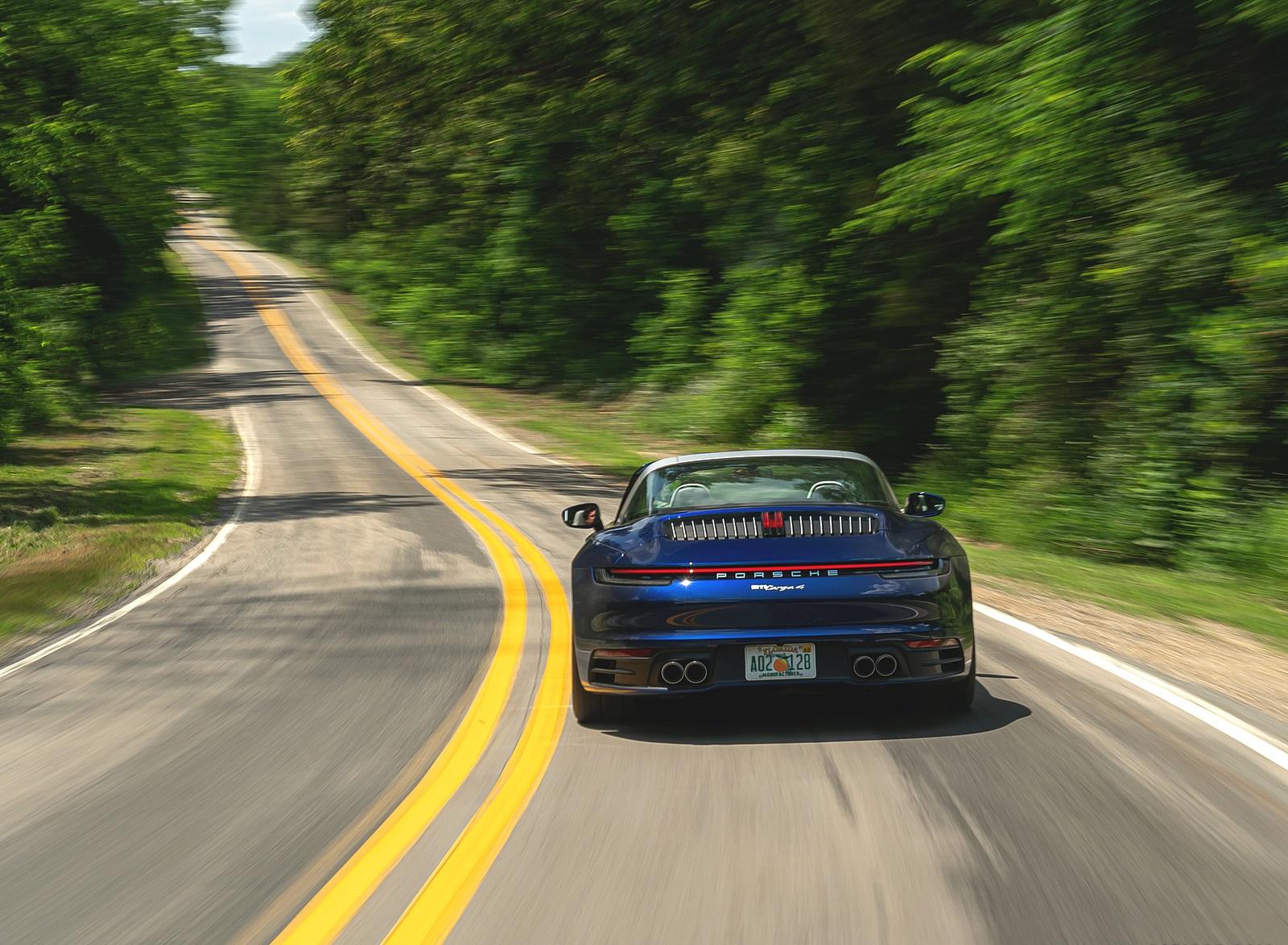 2021 Porsche 911 Targa 4 (Color: Gentian Blue) Rear Wallpapers (10)