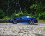 2021 Porsche 911 Targa 4 (Color: Gentian Blue) Side Wallpapers 150x120 (35)