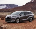 2021 Toyota Sienna Platinum Hybrid Front Three-Quarter Wallpapers 150x120 (4)