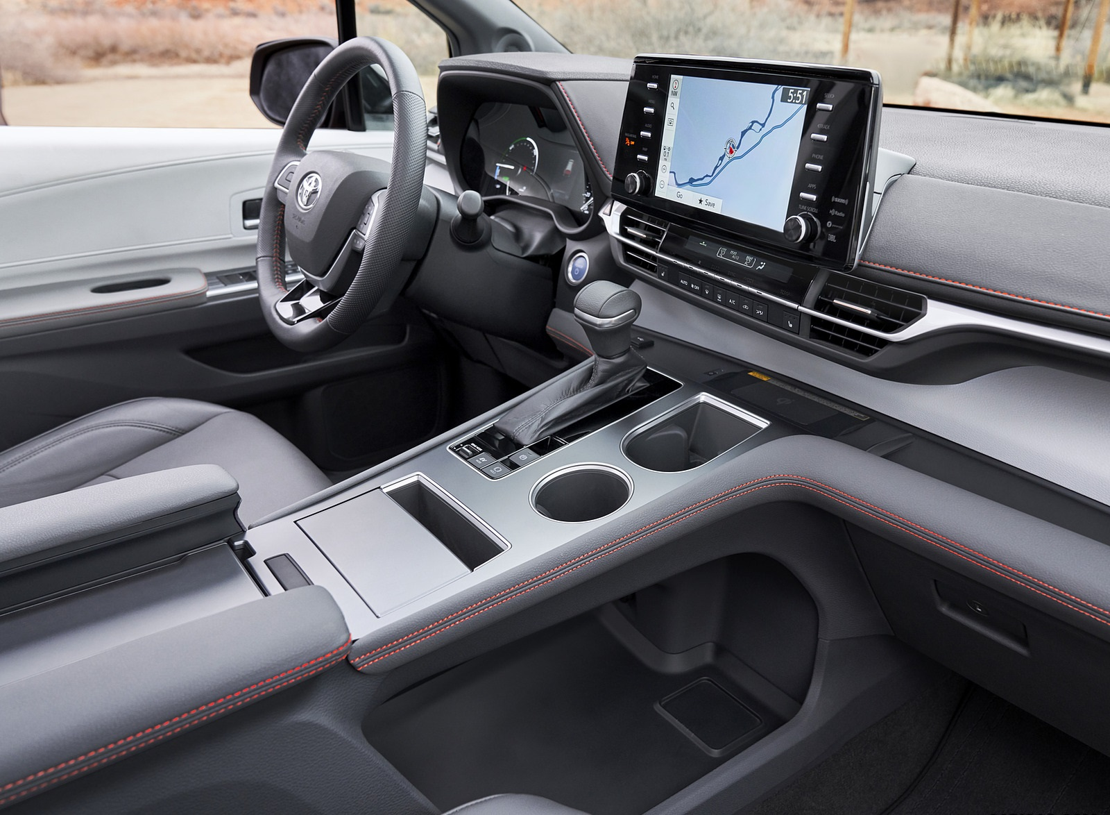 2021 Toyota Sienna XSE Hybrid Central Console Wallpapers #11 of 11