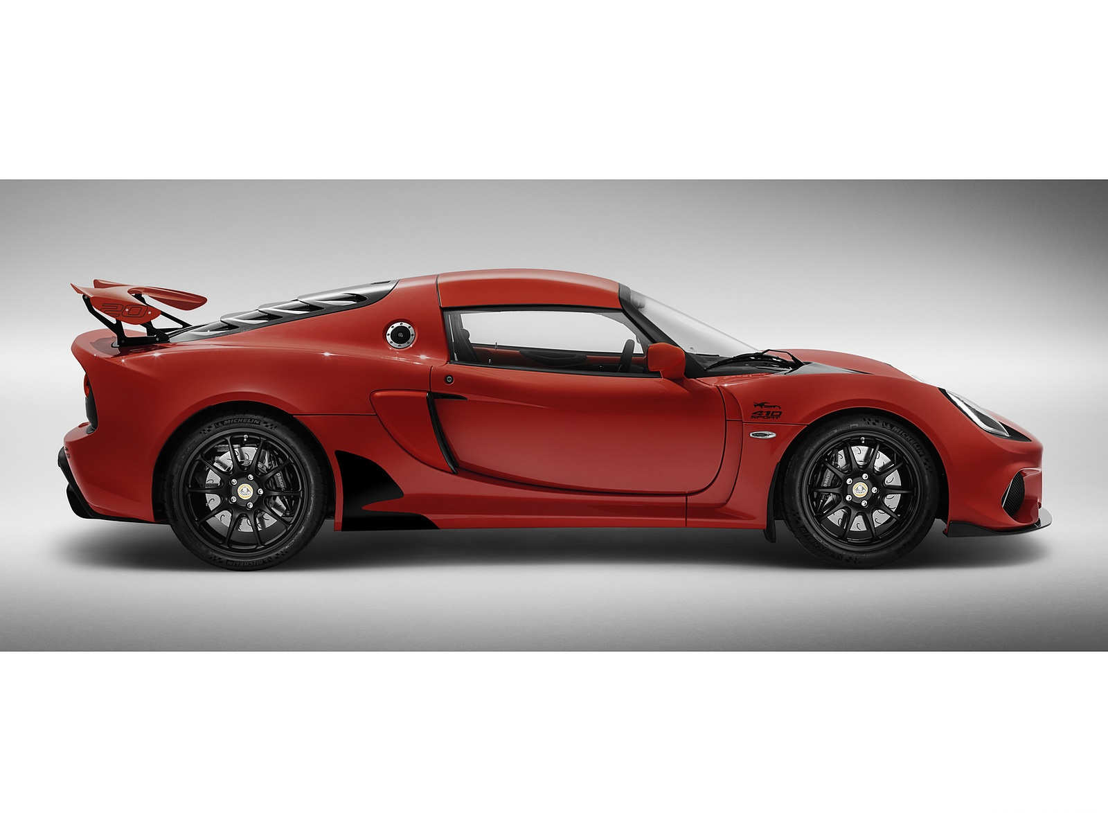 2020 Lotus Exige Sport 410 20th Anniversary (Color: Calypso Red) Side Wallpapers (6)