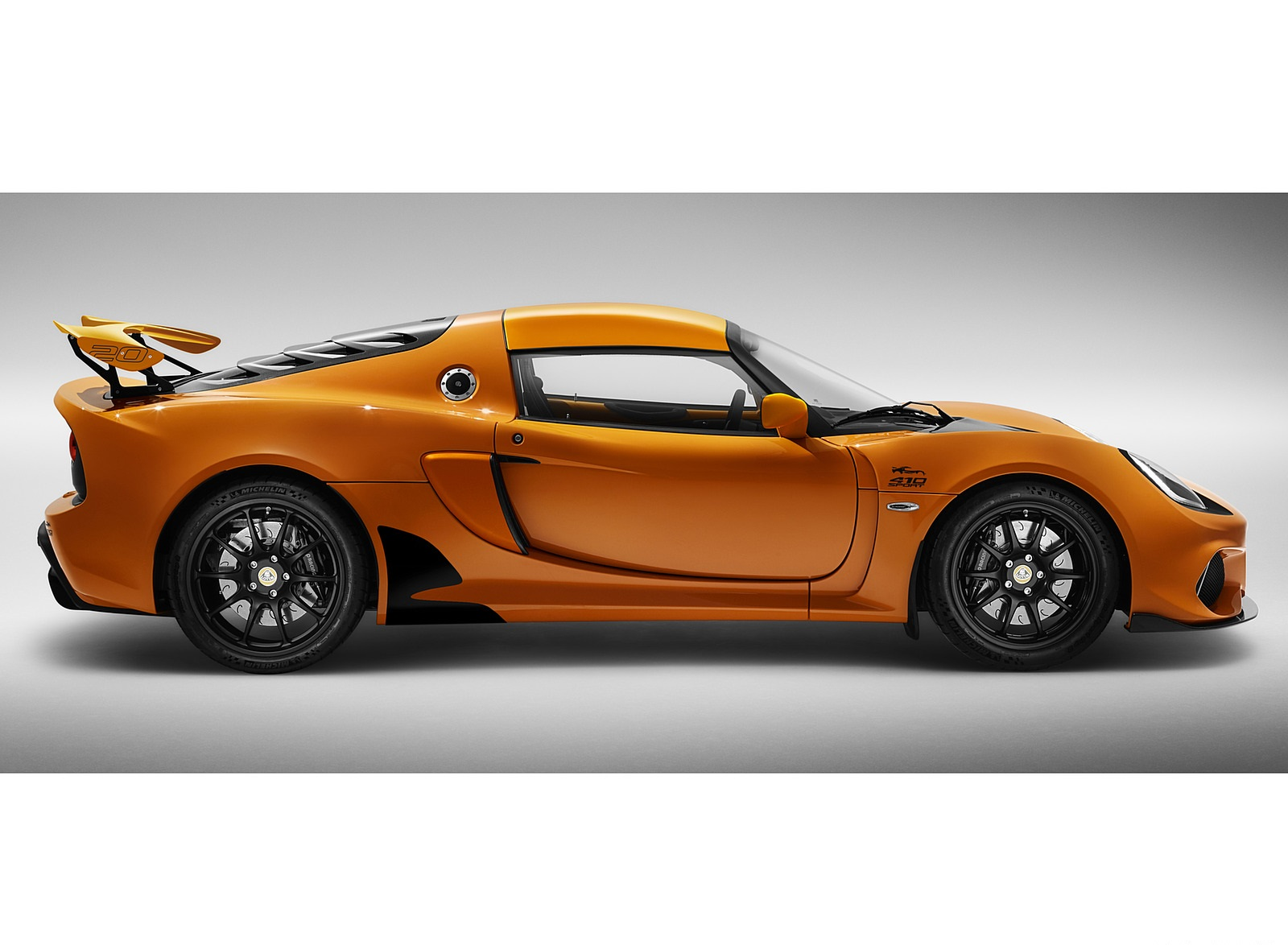 2020 Lotus Exige Sport 410 20th Anniversary (Color: Chrome Orange) Side Wallpapers (10)
