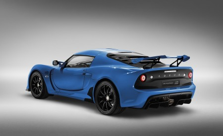 2020 Lotus Exige Sport 410 20th Anniversary (Color: Laser Blue) Rear Three-Quarter Wallpapers 450x275 (13)