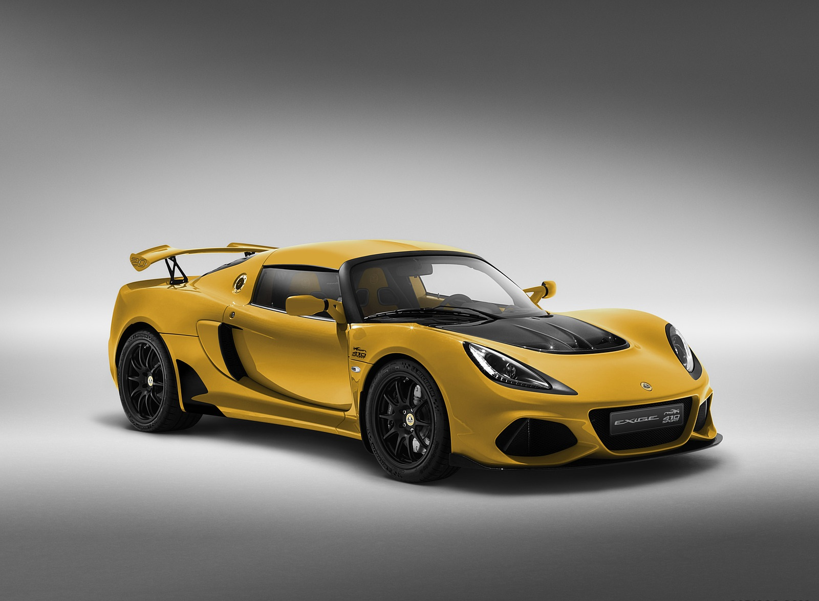 2020 Lotus Exige Sport 410 20th Anniversary (Color: Saffron Yellow) Front Three-Quarter Wallpapers (1)