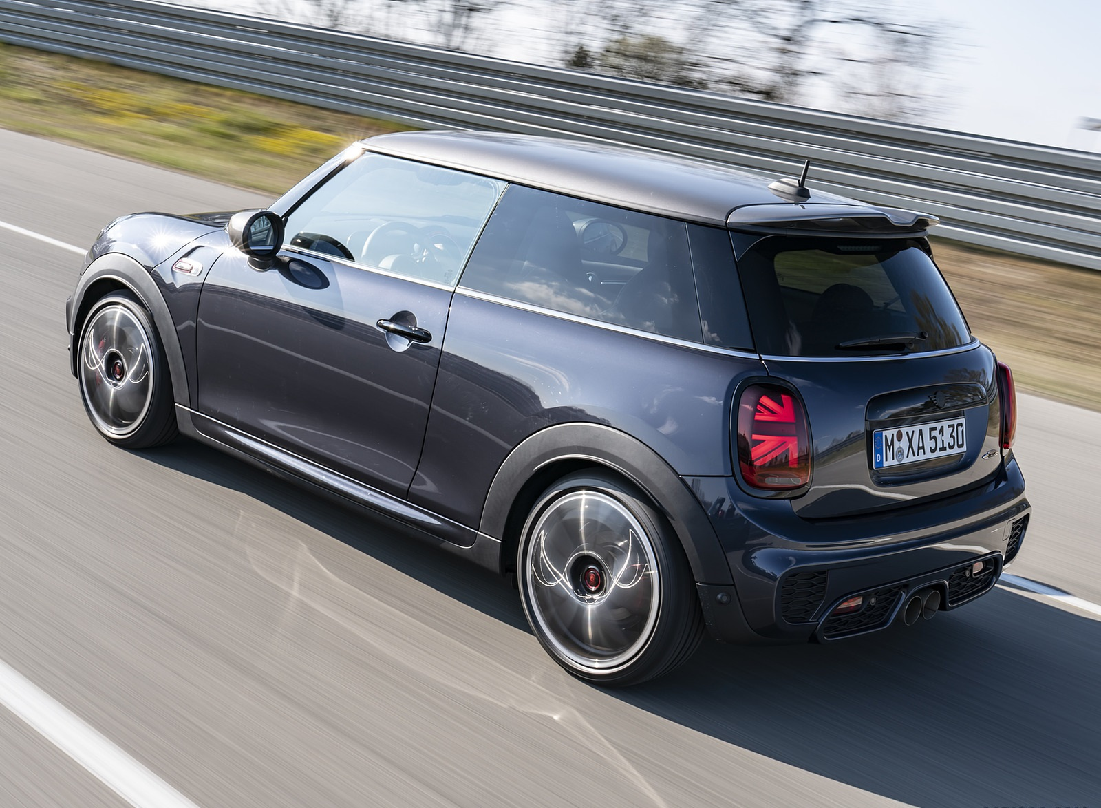 2021 MINI John Cooper Works GP Pack Rear Three-Quarter Wallpapers (3)