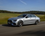 2021 Mercedes-AMG E 63 S 4MATIC+ (Color: High-Tech Silver Metallic) Front Three-Quarter Wallpapers 150x120 (2)