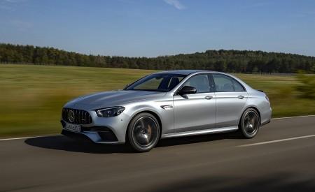 2021 Mercedes-AMG E 63 S 4MATIC+ (Color: High-Tech Silver Metallic) Front Three-Quarter Wallpapers 450x275 (2)