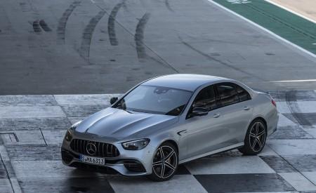 2021 Mercedes-AMG E 63 S 4MATIC+ (Color: High-Tech Silver Metallic) Front Three-Quarter Wallpapers 450x275 (36)