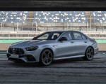 2021 Mercedes-AMG E 63 S 4MATIC+ (Color: High-Tech Silver Metallic) Front Three-Quarter Wallpapers 150x120 (15)