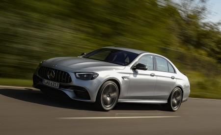 2021 Mercedes-AMG E 63 S 4MATIC+ (Color: High-Tech Silver Metallic) Front Three-Quarter Wallpapers 450x275 (6)