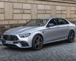 2021 Mercedes-AMG E 63 S 4MATIC+ (Color: High-Tech Silver Metallic) Front Three-Quarter Wallpapers 150x120 (22)