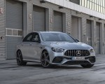 2021 Mercedes-AMG E 63 S 4MATIC+ (Color: High-Tech Silver Metallic) Front Three-Quarter Wallpapers 150x120 (16)