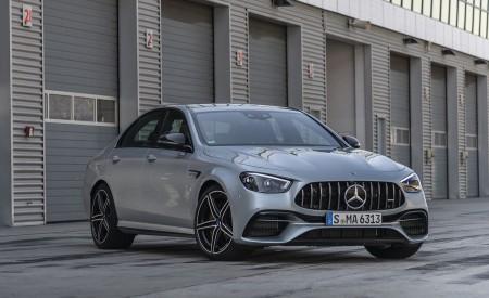 2021 Mercedes-AMG E 63 S 4MATIC+ (Color: High-Tech Silver Metallic) Front Three-Quarter Wallpapers 450x275 (16)