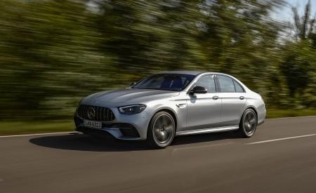 2021 Mercedes-AMG E 63 S 4MATIC+ (Color: High-Tech Silver Metallic) Front Three-Quarter Wallpapers 450x275 (8)