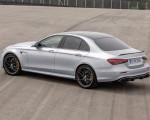 2021 Mercedes-AMG E 63 S (Color: Hightech Silver Metallic) Rear Three-Quarter Wallpapers 150x120 (15)
