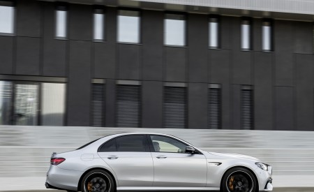 2021 Mercedes-AMG E 63 S (Color: Hightech Silver Metallic) Side Wallpapers 450x275 (79)